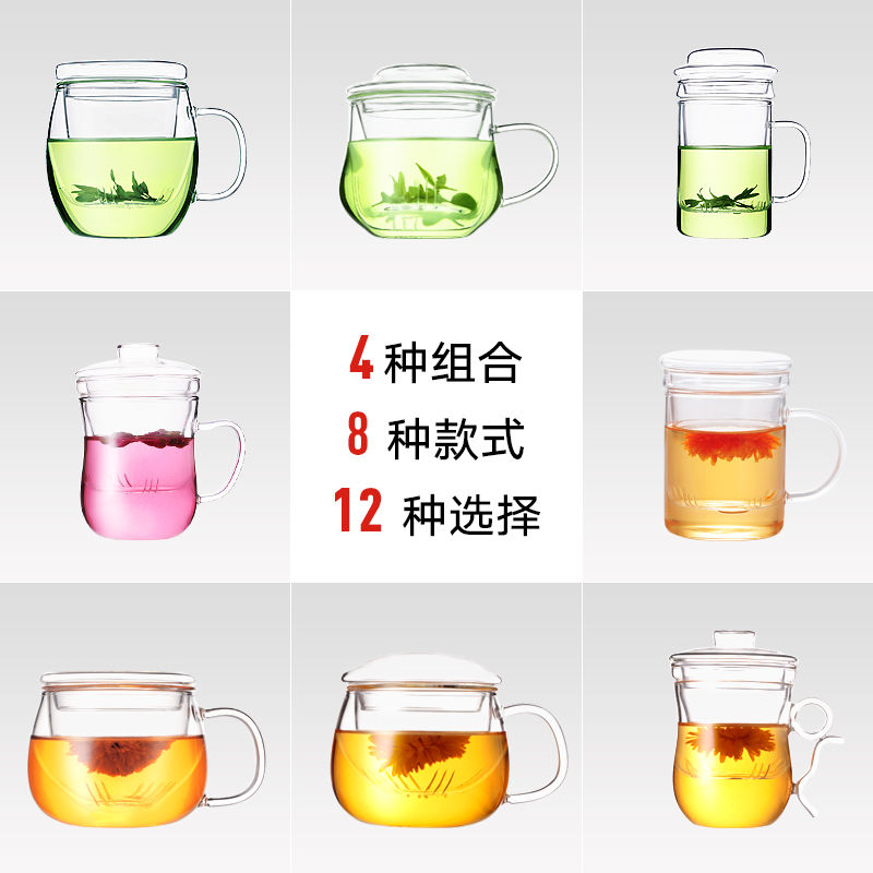 Nonxis/long xi glass cup pyrex cup pyrex glass filter cup creative cup with lid household household