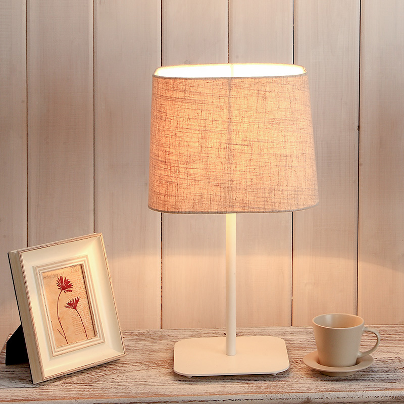 Nordic ikea lamp bedside lamp bedroom den living room lamps study creative minimalist modern decorative linen cloth