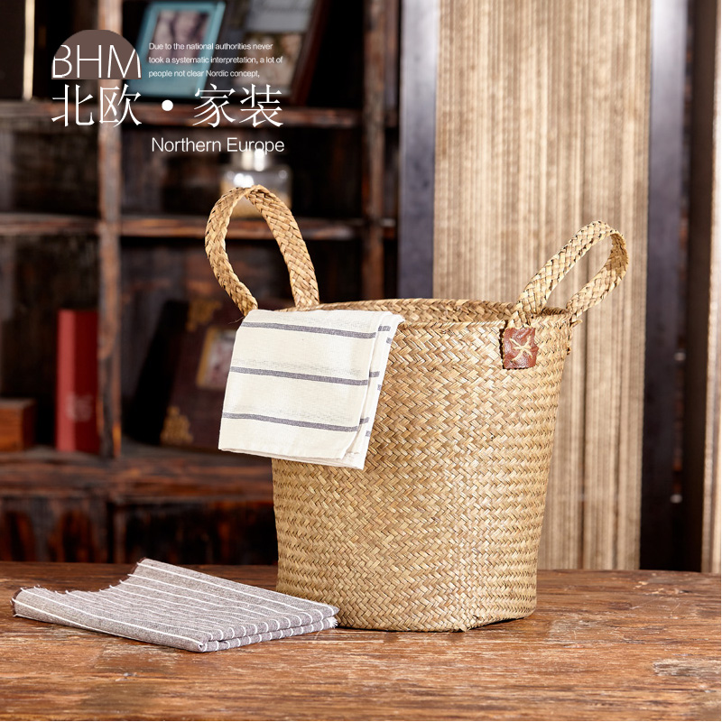 Nordic jewelry colors teng basket willow rattan storage box storage box bamboo storage basket blue rattan rattan boxes
