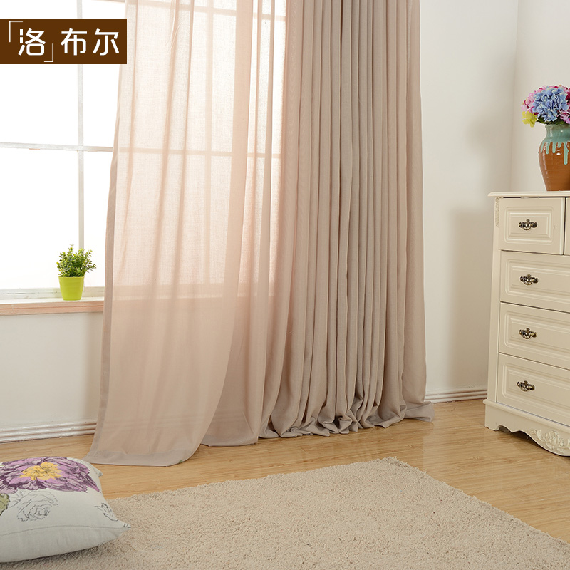 Get Quotations Nordic Simple And Elegant Pure White Natural Cotton Bay Window Curtain Screens Bedroom Living Room Balcony