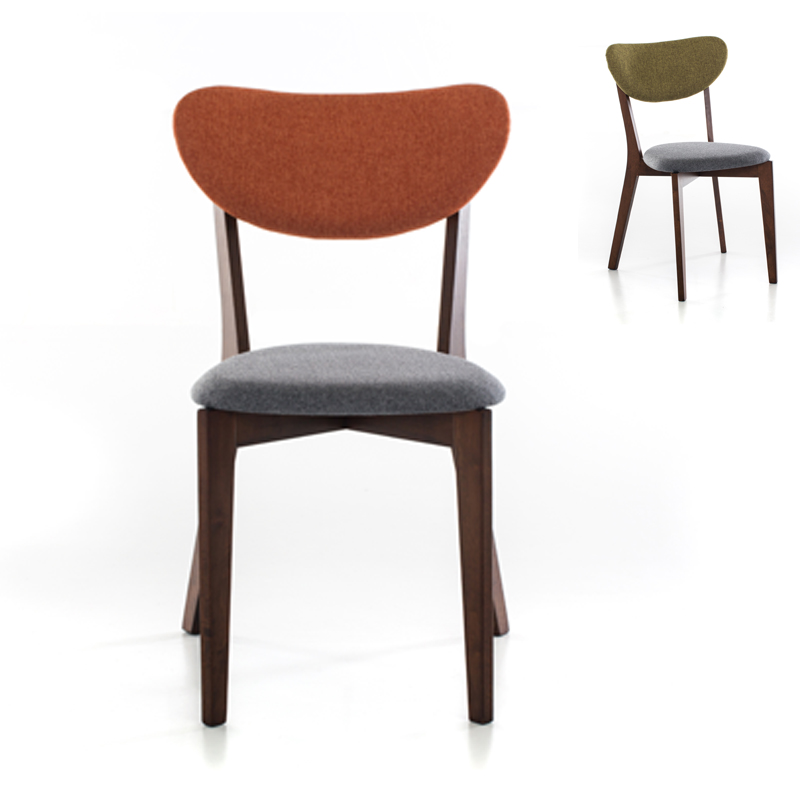 Get Quotations · Nordic Wood Dining Chairs Modern Minimalist Home Study  Color Roolls Cafe Chair Dining Chair Dining Chairs