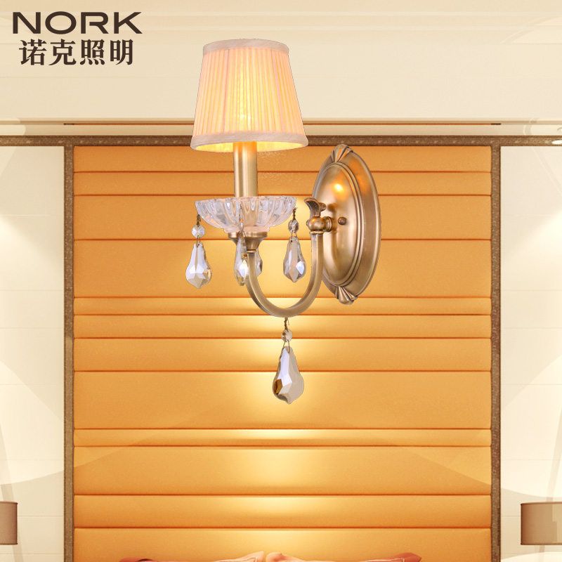 Nork/knox european luxury crystal lamp living room hallway full copper room den wall lamp wall lamp wall lamp 134039