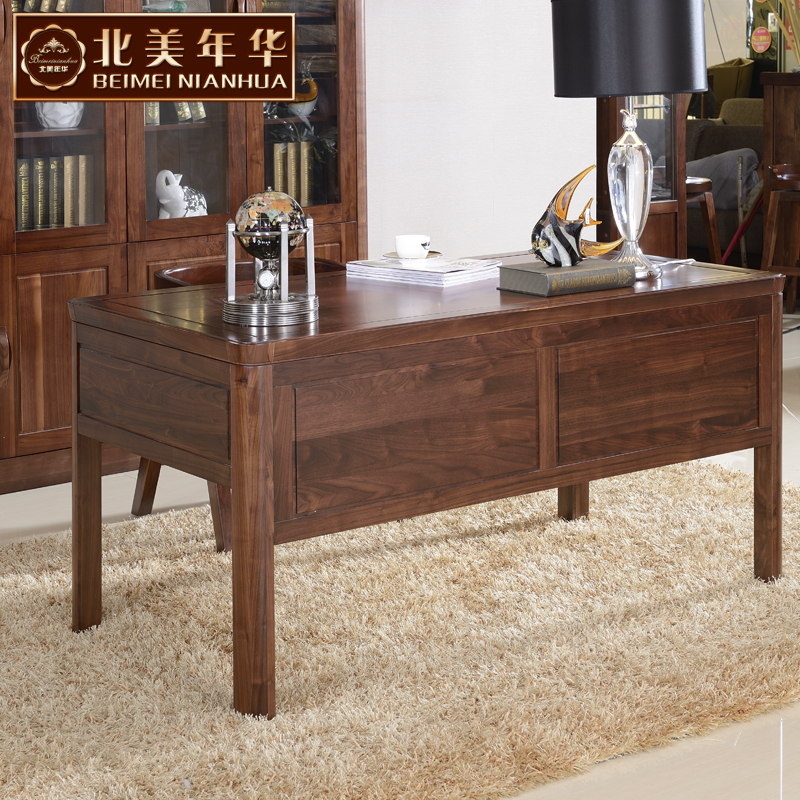 North american love 037 end of modern chinese black walnut solid wood desk desk solid wood furniture
