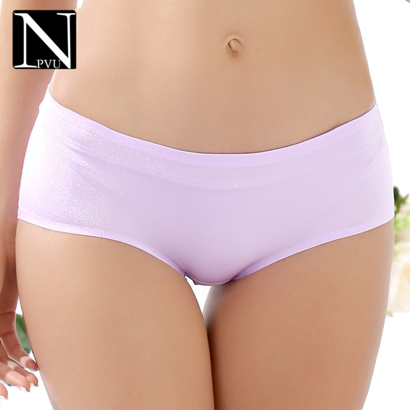 Npvu smooth seamless underwear briefs ms. 2016 summer new wild sexy low waist underwear briefs female 3388