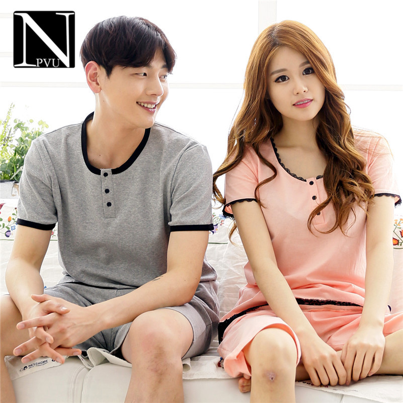NPVU2016 couple new fashion casual tracksuit suit pajamas short sleeve casual shorts tide 1860