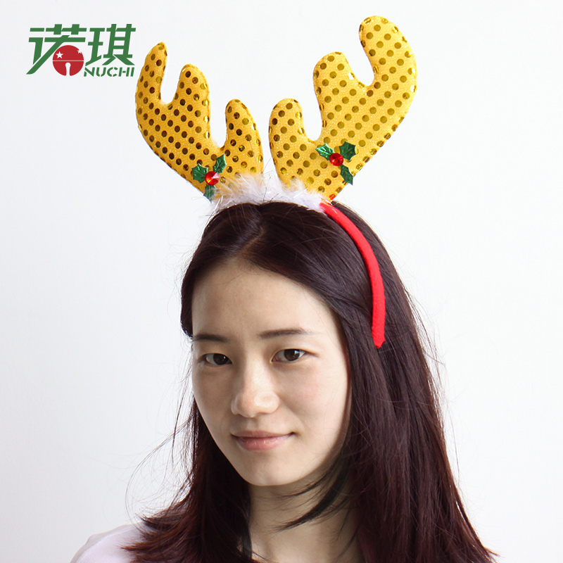 Nuoqi christmas decorations super meng cartoon christmas elk christmas christmas christmas christmas headband headband head buckle