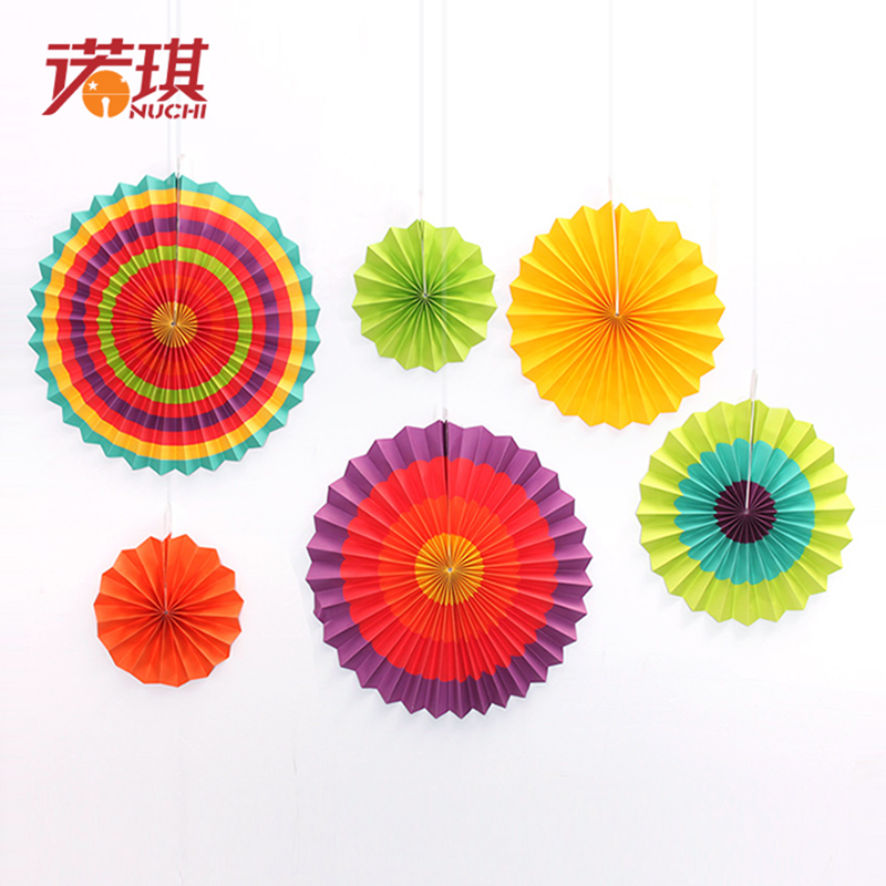 China party decoration flower china party decoration flower get quotations nuoqi wedding decoration supplies colorful textured paper folding paper fan flower party layout window decoration 250g mightylinksfo