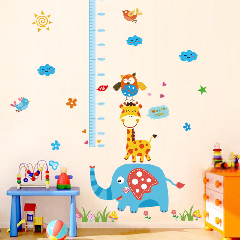 Nursery decor removable wall stickers measuring height feet tall wall stickers affixed treasure treasure bedroom children's room wallpaper