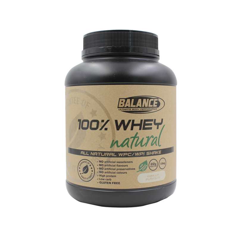 Nutralife/new zealand music balance 100% natural pure whey protein powder whey protein powder vanilla flavored sugar 1.5 kg