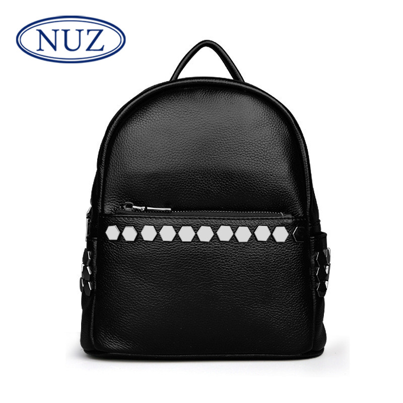 Nuz fashion classic ladies casual bags fashion personality leather embossed first layer of leather shoulder bag 2506