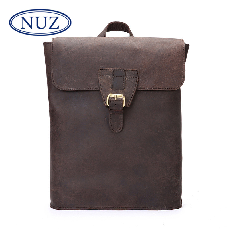 Nuz korean leather shoulder bag 2016 new first layer of leather crazy horse leather handbags retro fashion backpack 7202