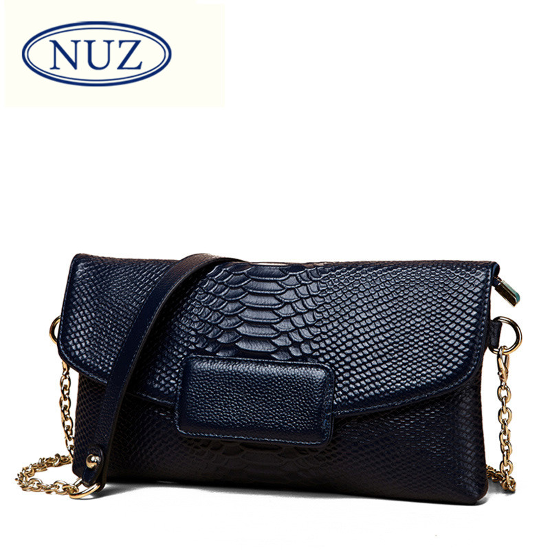 1cceed165be0 Get Quotations · Nuz ladies casual bags 2016 korean version of the new  leather first layer of leather messenger