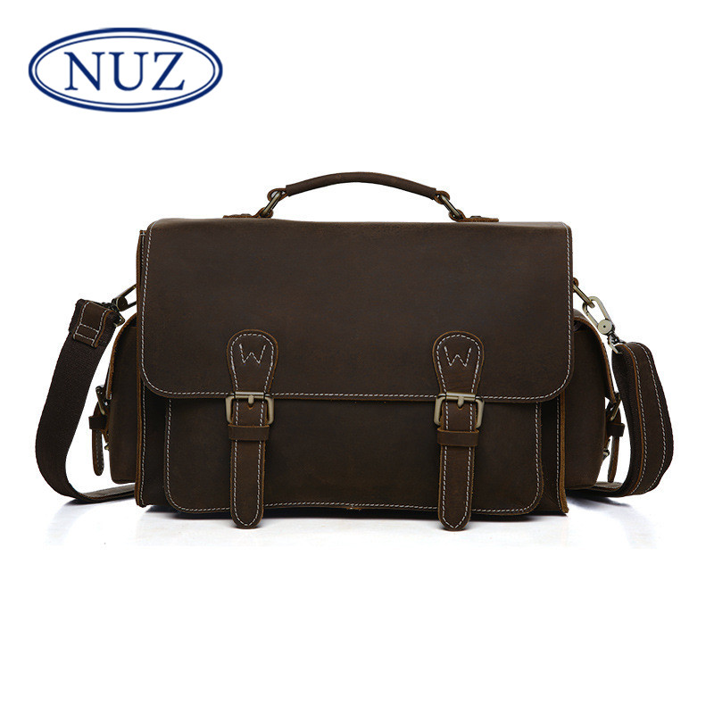 Nuz slr camera bag 2016 summer new outdoor leisure bag leather handbag portable shoulder messenger 4470