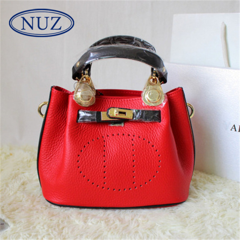 Nuz summer new ladies bags european and american fashion wild shoulder bag bucket bag diagonal package influx of pure color 9200