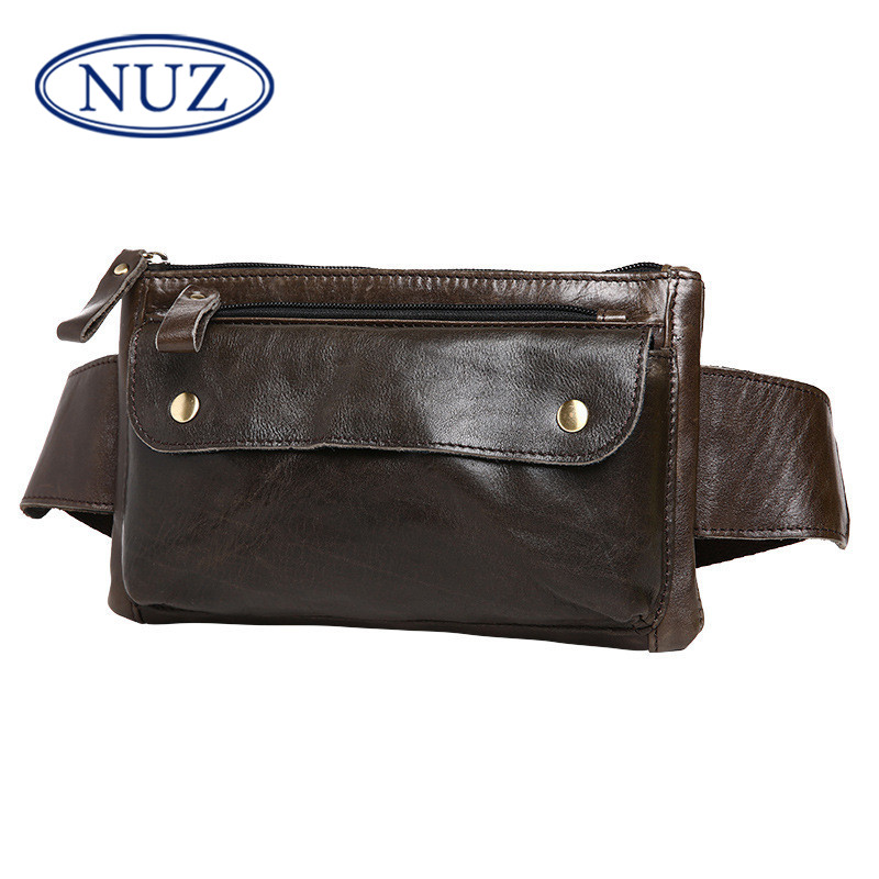 Nuz tide everyday casual and simple shoulder bag 2016 summer new first layer of leather bag messenger bag man bag 6456