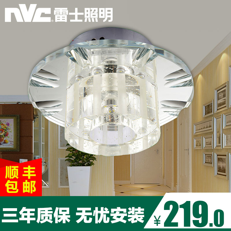 Nvc led crystal aisle lights porch lights aisle lights corridor ceiling with modern minimalist lighting