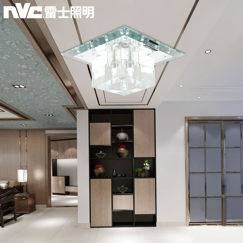 Nvc lighting led glass ceiling lights porch lamp modern minimalist corridor hotel hallway square crystal light