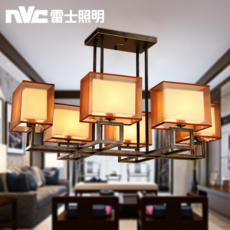 Nvc living room lights new chinese restaurant chandelier antique wrought iron lighting fixtures chinese modern minimalist living room with lights