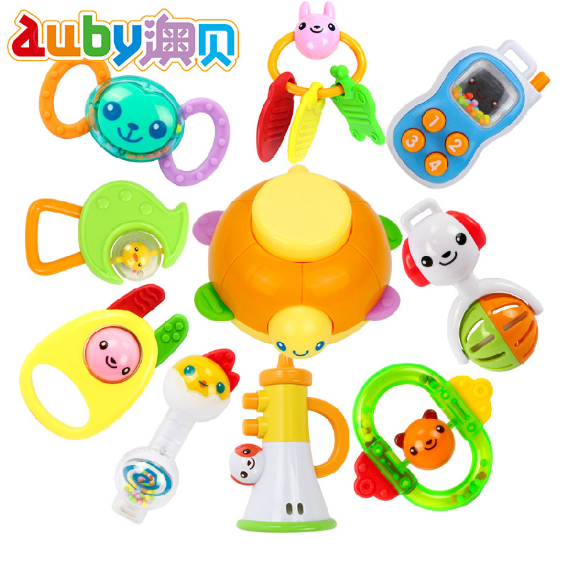 O pui counter genuine toy baby gift set 0-1-year-old obey newborn baby toys 10 loaded baby rattles