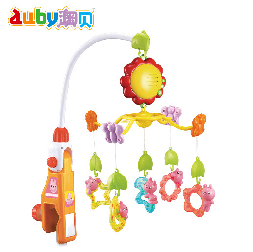 O pui didi rabbit bed bell rotating music baby bed bell hanging bell baby toys gift 463201