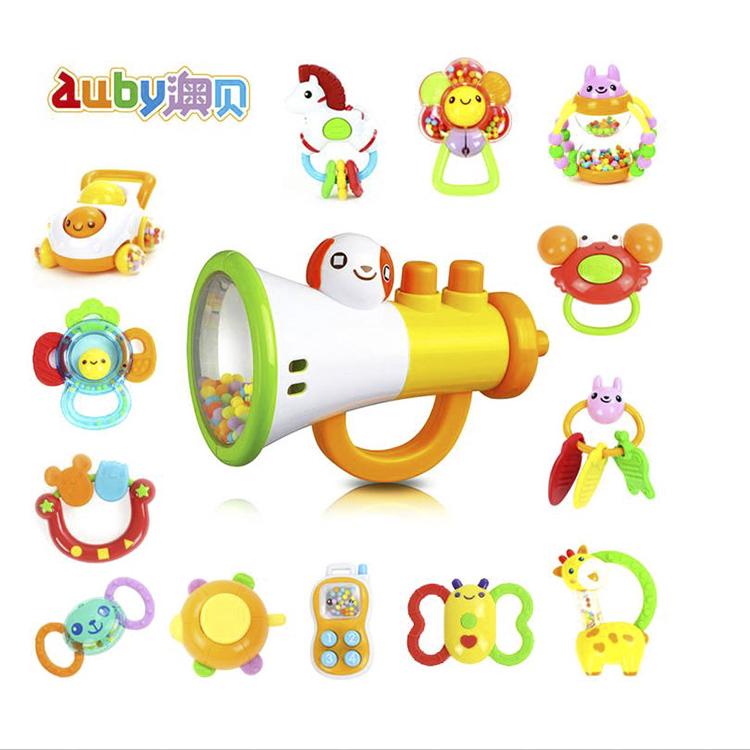 O pui teether rattle baby toy baby toys genuine obey newborn baby rattle toy gift 0-1-year-old