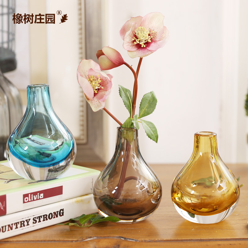 Oak manor nordic simple plain thick glass vases stylish home dining table and beirut desktop ornaments