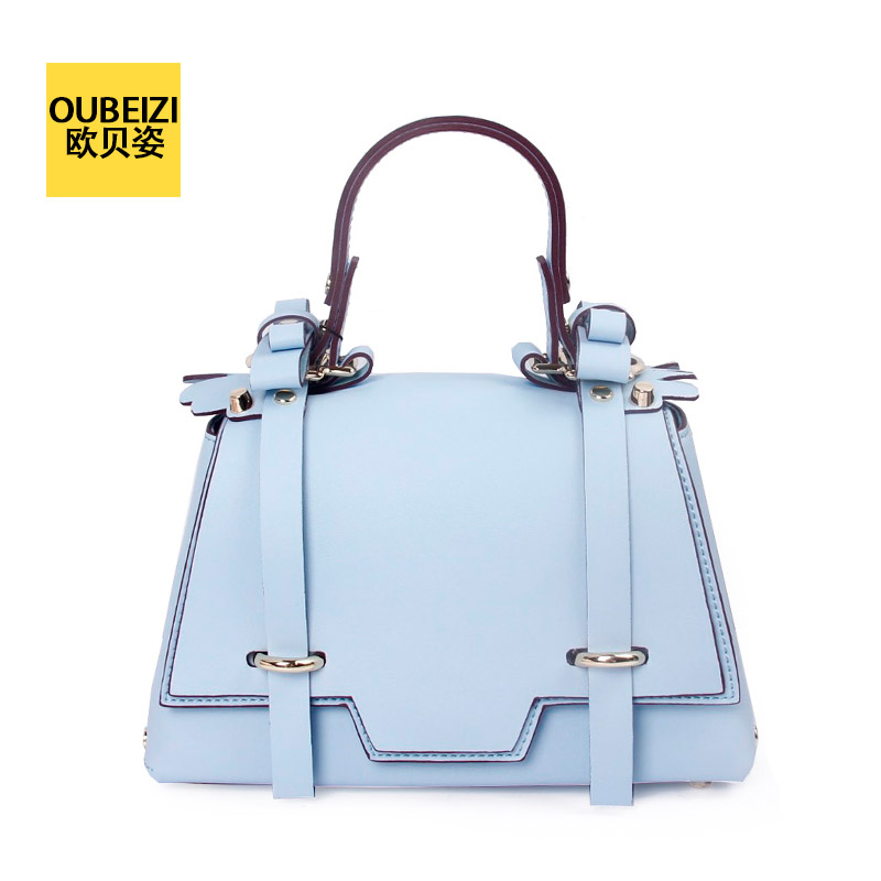 Oberoi pose 16 spring and summer np star the same paragraph retro college wind cowhide leather bow portable shoulder messenger bag