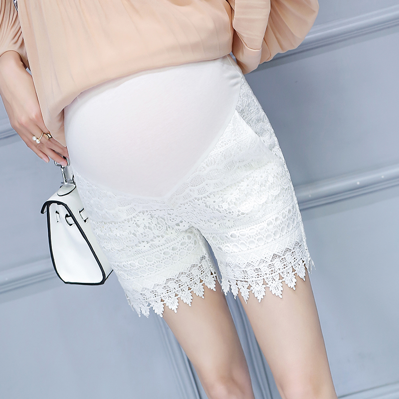 October name couture maternity pants summer thin section of white lace shorts big yards prop belly pants maternity pants maternity summer
