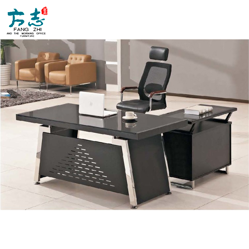 Office furniture glass table desk manager in charge of simple and stylish glass desk desk desk boss