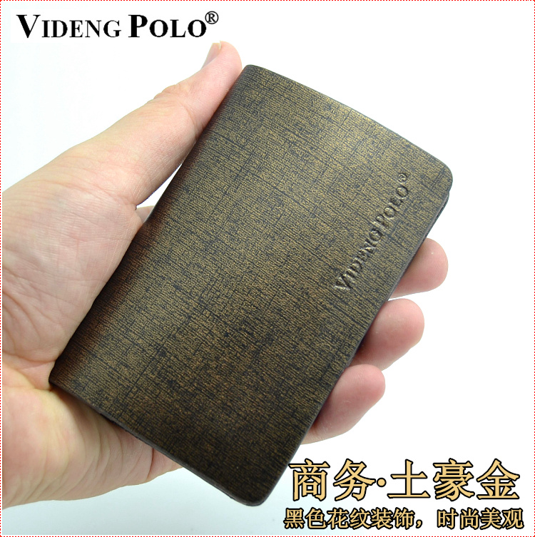 Official authentic polo paul vuitton tyrant gold upscale leather card case business card holder men women