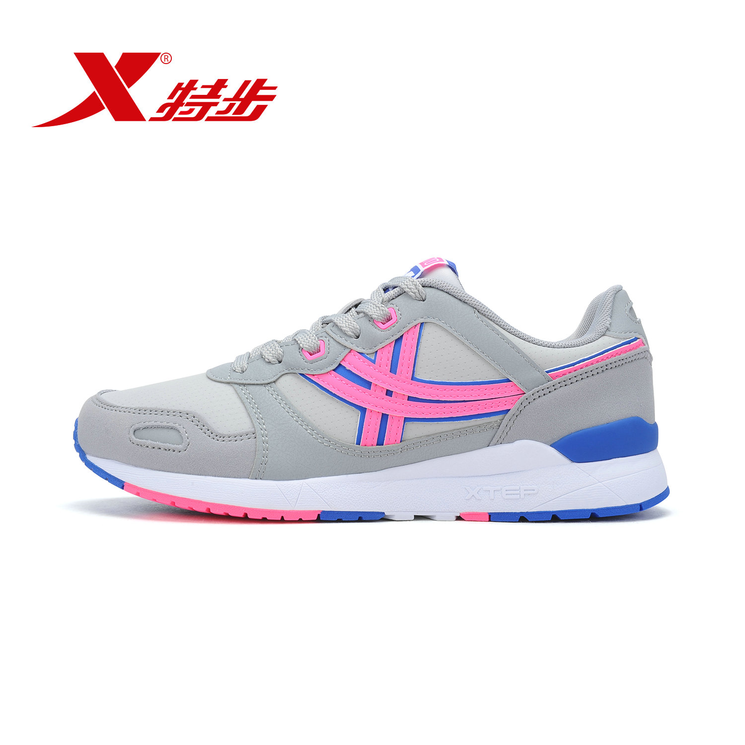 [Official] xtep shoes casual shoes new fall fashion stitching 2016 hundred ride and comfortable sports shoes women