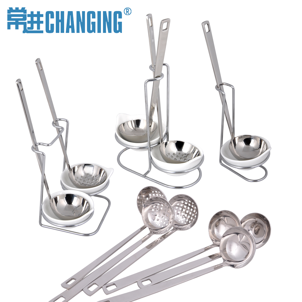 Often carry handle thick stainless steel fondue pot spoon spoon colander pot soup thickened shell colander rack suits