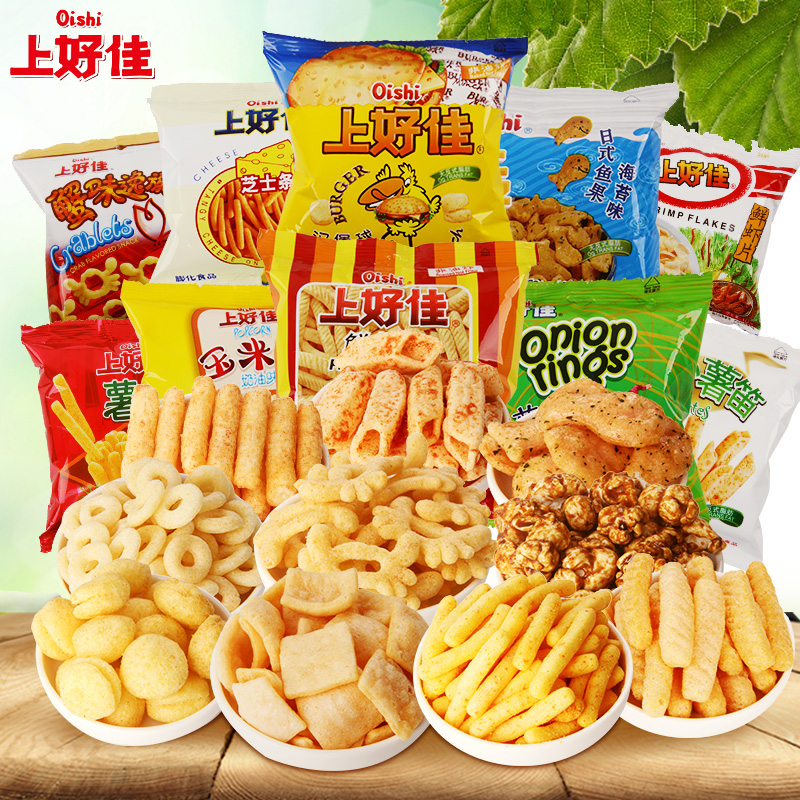 Oishi prawn potato strips crispy corn flower sticks fewerproteinsand children casual snack snack single package