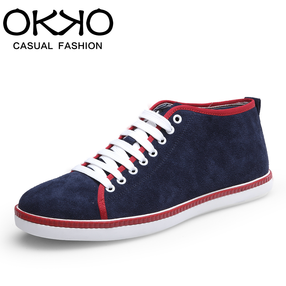 Okko genuine spring and autumn men's casual shoes to help low tide lace shoes british style trend of men's shoes breathable single shoes