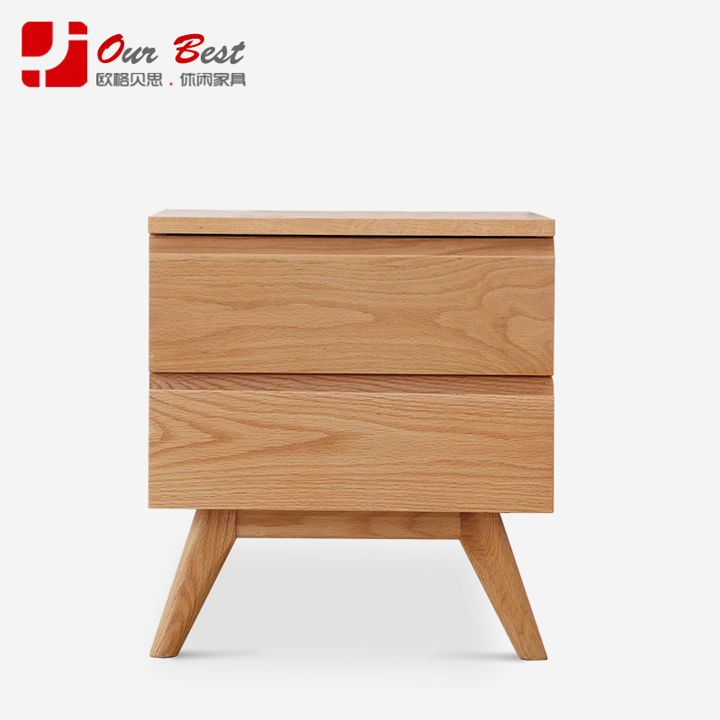 Olger beth all solid wood furniture modern minimalist bedside cabinet bedside cabinet ash drawer storage cabinets lockers continental