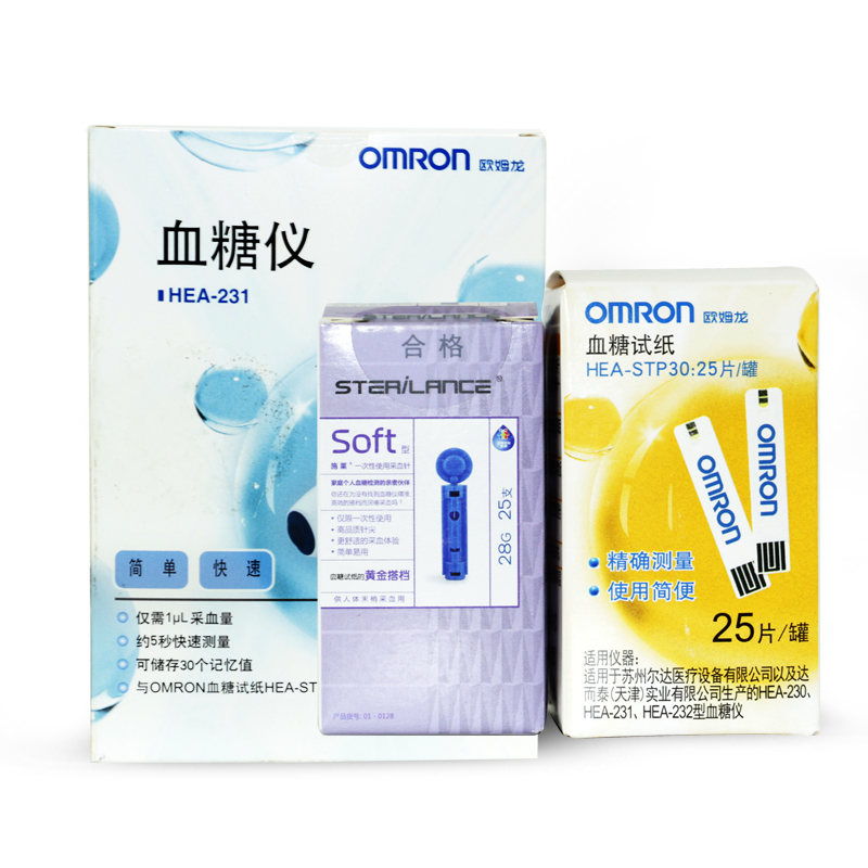 Omron blood glucose test strips hea-stp30 apply 230/231/232 blood glucose meter 25 installed