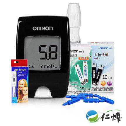 Omron omron home blood glucose meter hgm-112 instrument to measure blood sugar glucose meter blood glucose meter blood glucose test strips