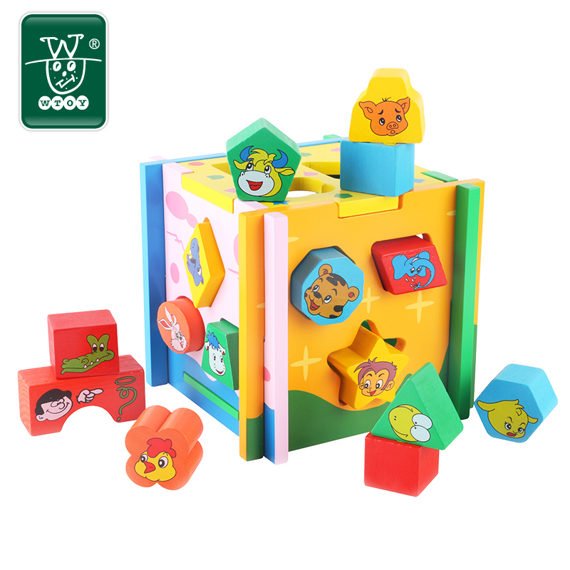 One year old baby and young children early childhood shape matching cognitive puzzle toy building blocks for boys and girls year old
