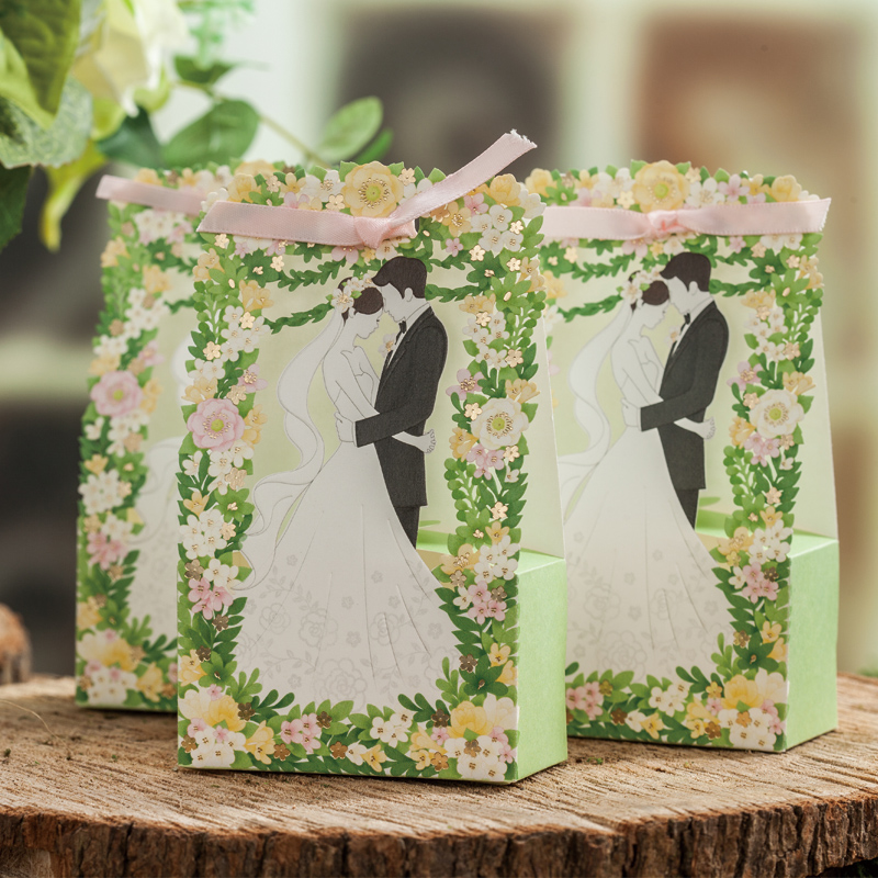 Only simei creative wedding invitations personalized wedding green wedding candy box wedding european wedding candy box korean snack box