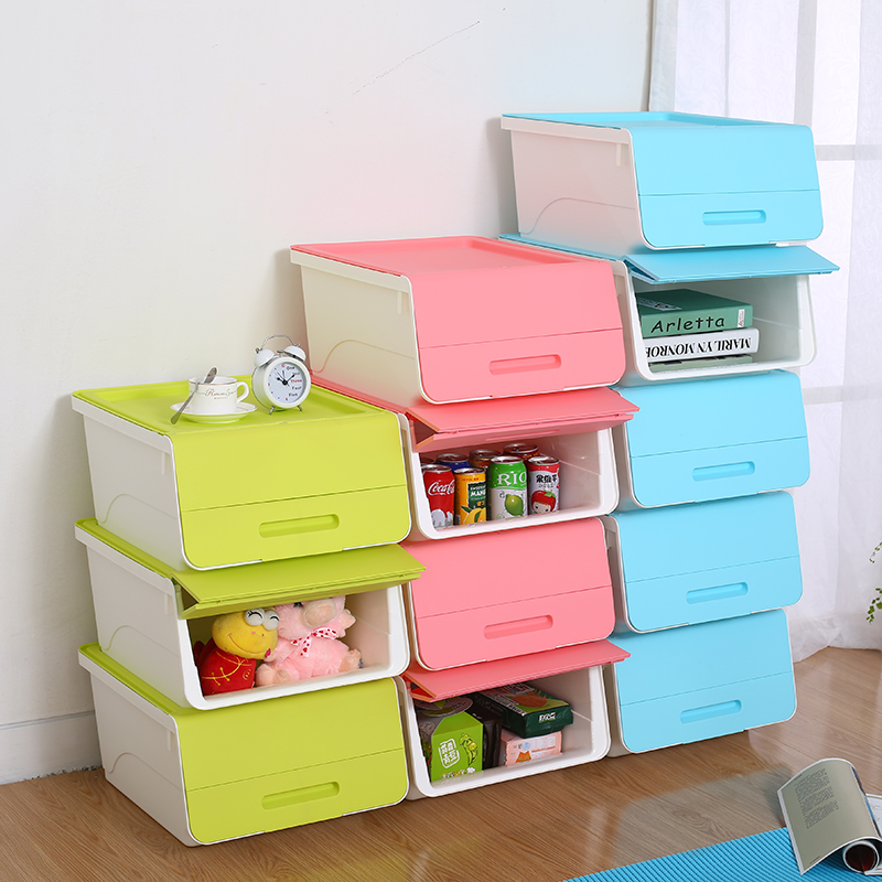 Opaisj bevel big bedroom kitchen plastic storage box of children's toys finishing box home storage box material