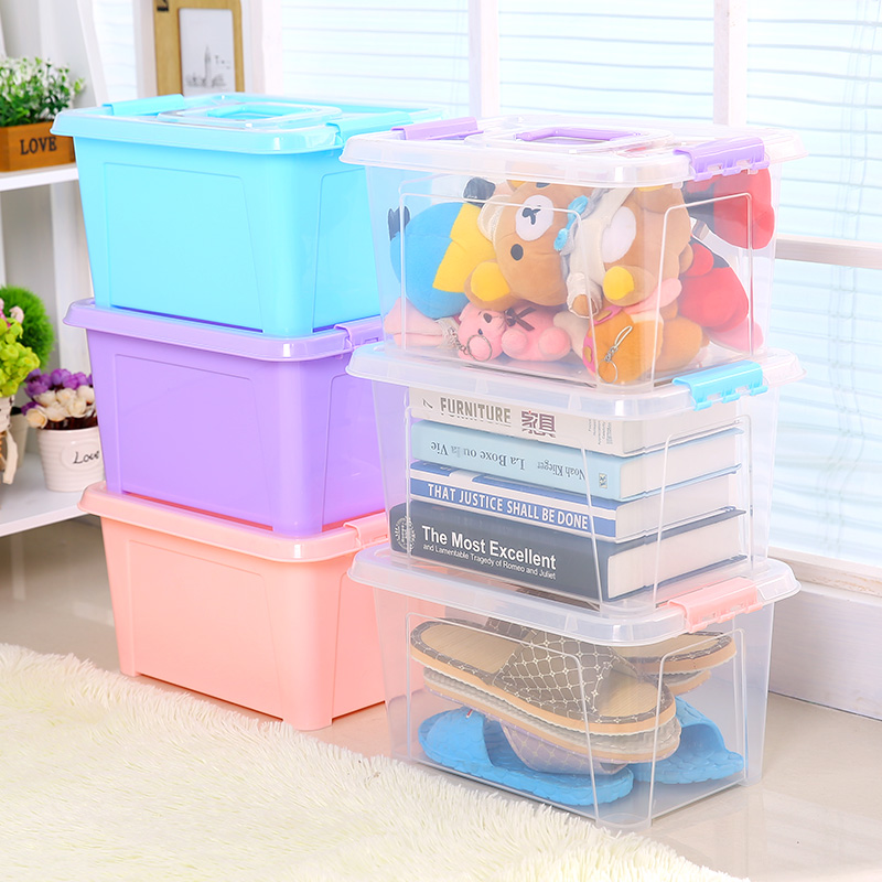Opaisj plastic children's toys storage box snack debris sorting box jewelry box finishing household kits