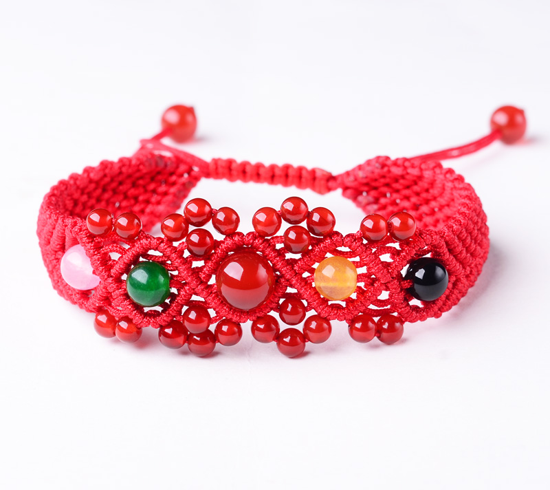 Opening 2016 year of the monkey natal garnet red string bracelet female birthday gift red rope snake tiger pig and chicken Rabbit