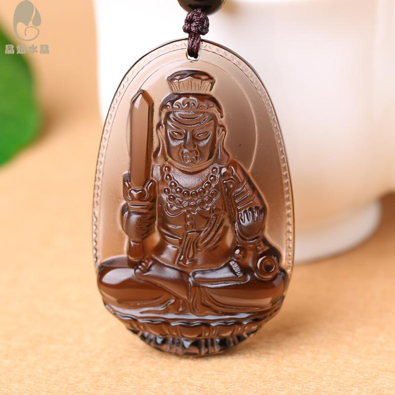 Opening a chicken mascot obsidian crystal girl crystal does not move natal buddha statue buddha pendant fudo patron saint