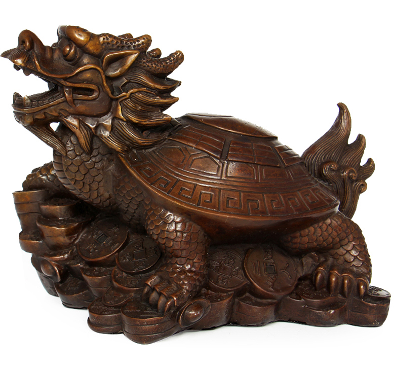 Opening gossip copper dragon turtle ornaments crafts tuba money villain help the cause of lucky feng shui home furnishings
