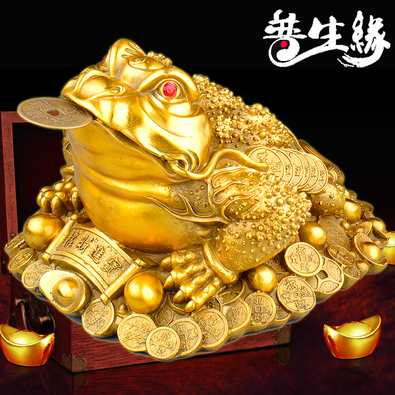Opening of copper ornaments lucky toad three legged toad toad king tripod cicada shop shop opening gifts cai