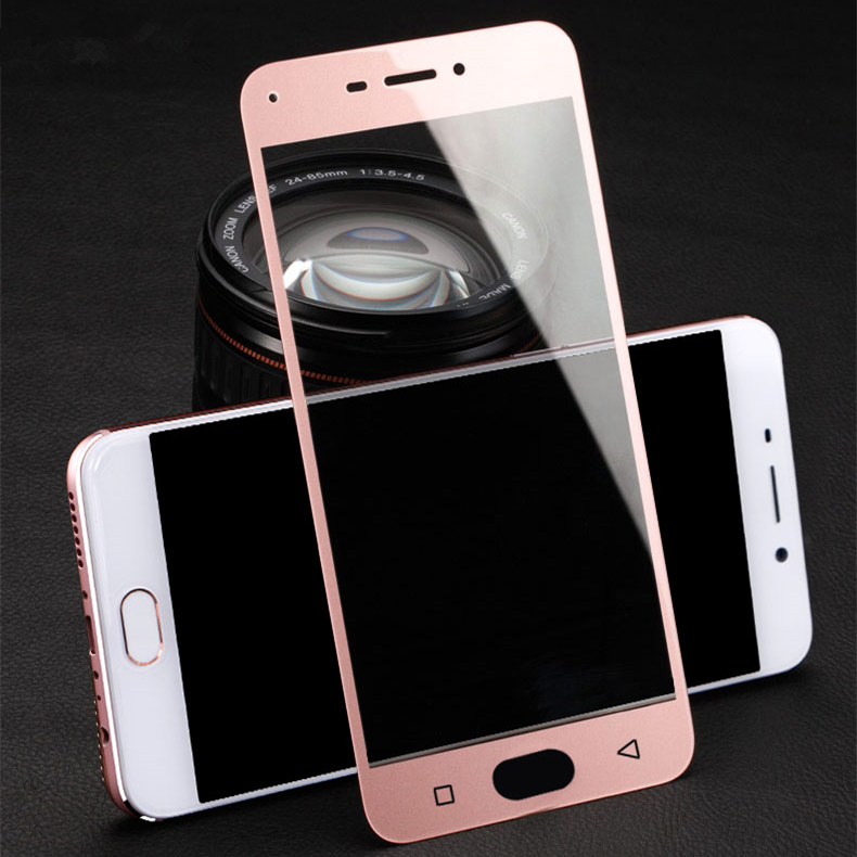 OppoR9 r9 full netcom phone tempered glass film film film full screen mode oppoR9tm 0pp0r9è«è¾thin protective film color film