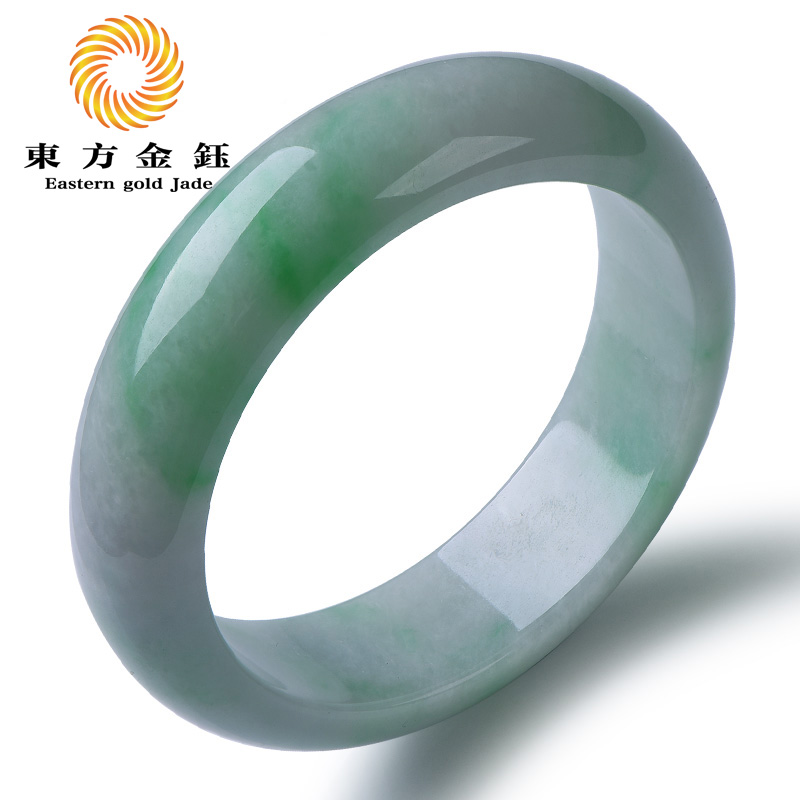 Oriental kim yu natural jade bracelet a cargo light green jade myanmar old crater ice waxy kinds of jade bracelets jade bracelet 58 #