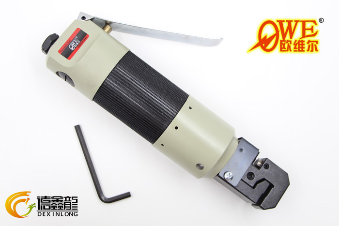 Ou weier pneumatic straight punching folding machine blank perforated machine threader OW-388 crimping pliers