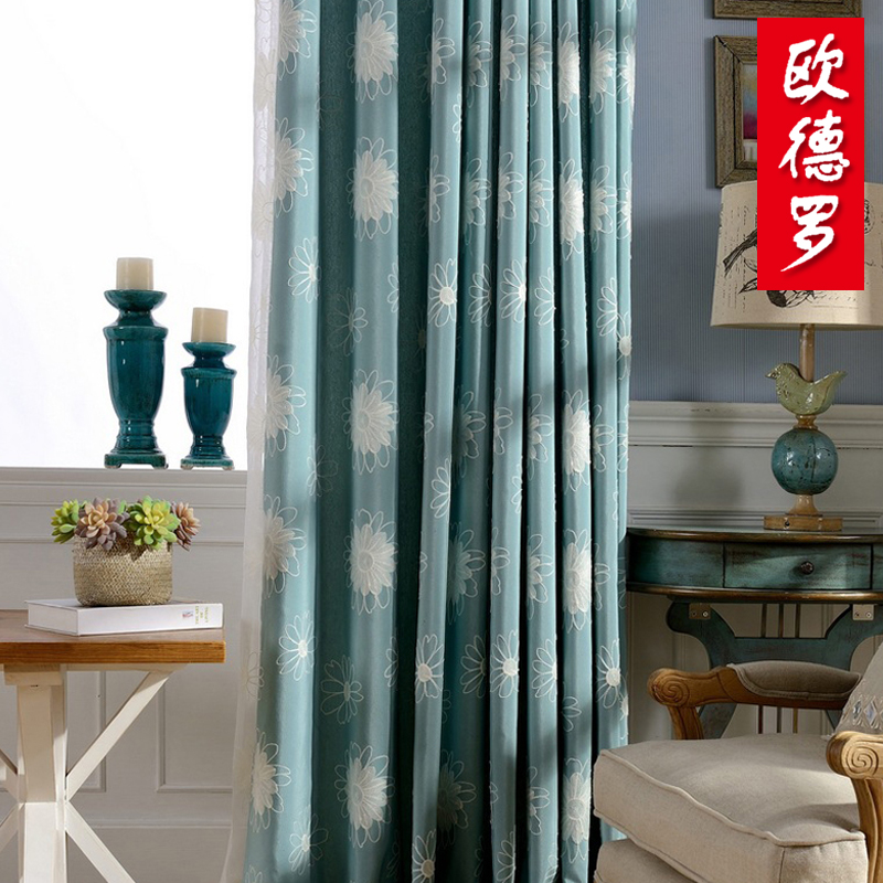 Oude luo korean small flowers and warm cotton upscale living room bedroom curtains custom finished cloth [flowers]