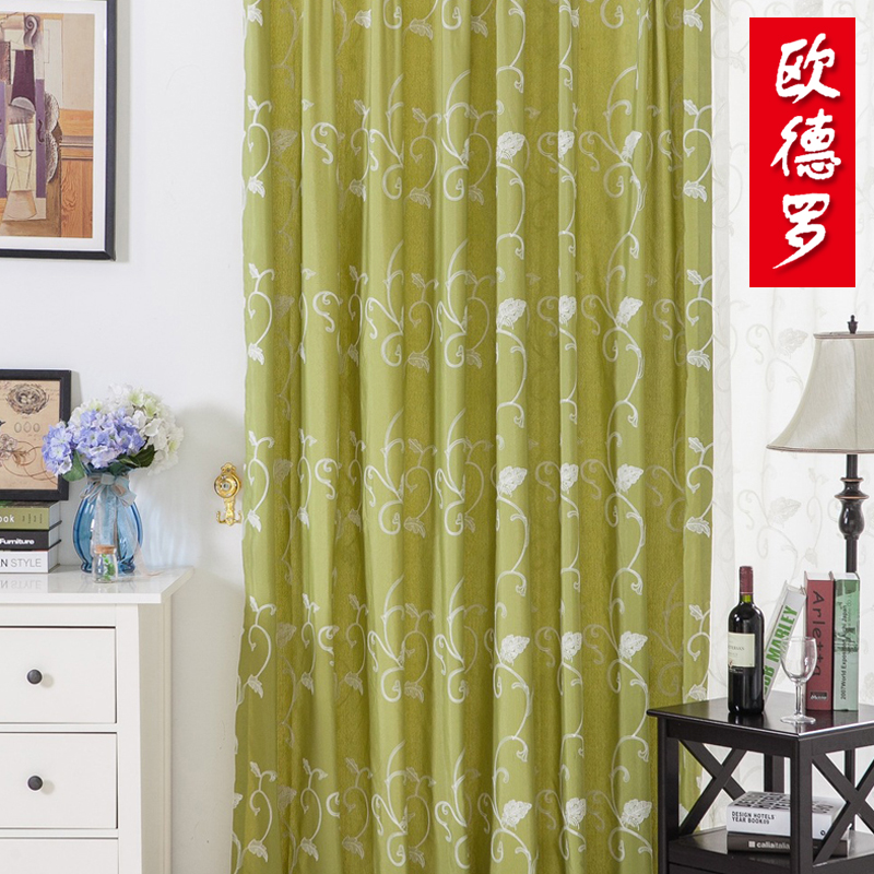 Oude luo nordic romantic half shade cloth finished bedroom balcony living room curtains custom [man man cheongna]